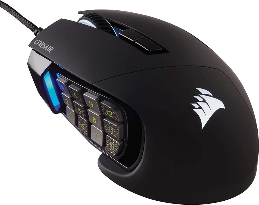 Corsair Scimitar Elite migliori mouse gaming MMO
